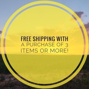 FREE SHIPPING with a purchase of 3 items or more!